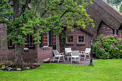 Photograph - Cozy Settings. Giethoorn. The Netherlands by Jenny Rainbow