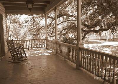 Rocking Chairs Photograph - Cozy Southern Porch by Carol Groenen