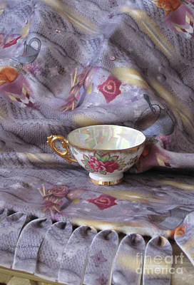 Photograph - Cozy Time With Tea And Fleece Blanket by Nancy Lee Moran