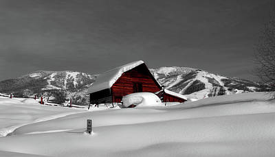Log Cabins Photograph - Cozy Winter Cabin by Mountain Dreams