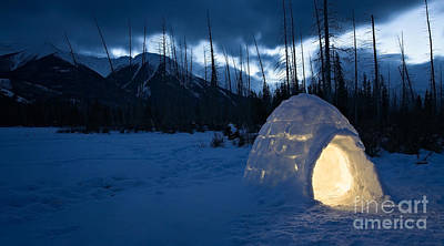 Igloo Photograph - Cozy Winter Cottage At The Lake by Royce Howland