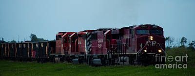 Photograph - Cp Train by Jamie Haley