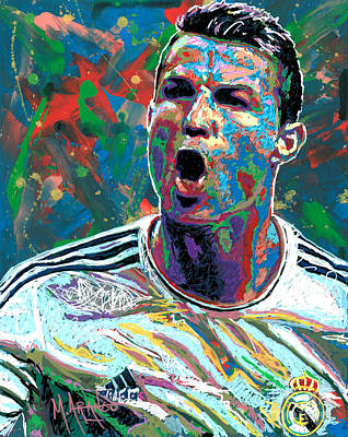 Painting - CR7 by Maria Arango