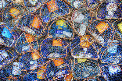 Photograph - Crab And Lobster Pots On Quayside by David Birchall
