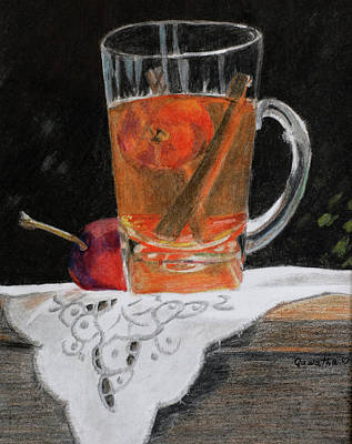 Painting - Crab Apple And Cinnamon Tea by Quwatha Valentine