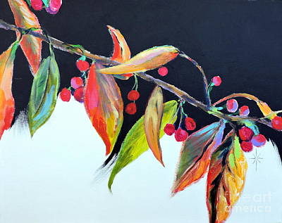 Painting - Crab Apple by Jodie Marie Anne Richardson Traugott          aka jm-ART