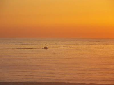 Photograph - Crab Boat At Sunset by Angi Parks