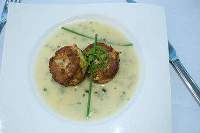 Art Print featuring the photograph Crab Cakes by Joseph Hollingsworth