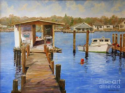 Painting - Crab Dock by Keith Wilkie