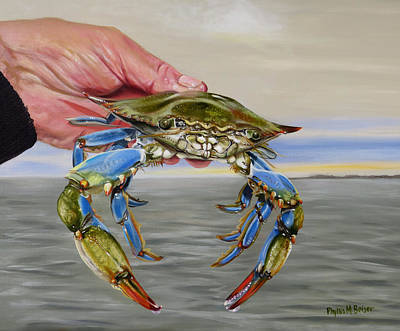 Painting - Crab Fingers by Phyllis Beiser
