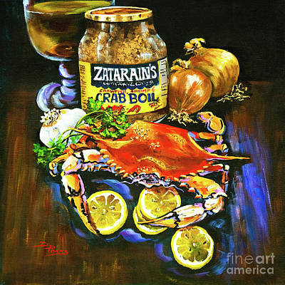 Onion Wall Art - Painting - Crab Fixin's by Dianne Parks