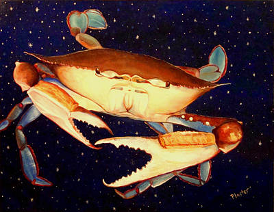 Crab In Space Art Print by Scott Plaster