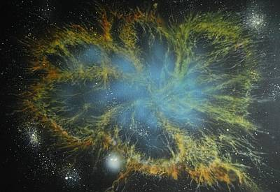 Hubble Telescope Painting - Crab Nebula by DC Decker