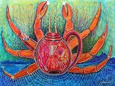 Crab Pots Painting - Crab Pot by Julie Bourbeau