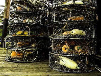 Crab Pots Photograph - Crab Pots by Thomas Ashcraft