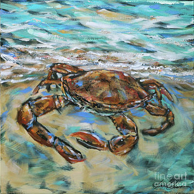 Painting - Crab Scurry by Linda Olsen