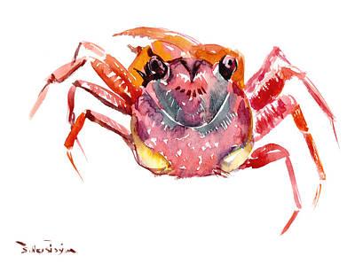 Crab Art Print by Suren Nersisyan