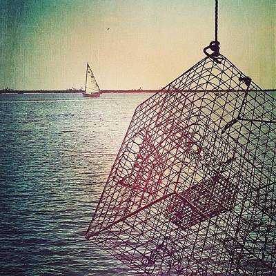 Boat Photograph - Crab Trap #biloxi #sailboat #crab by Joan McCool