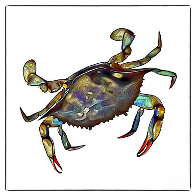 Digital Art - Crab by Walt Foegelle