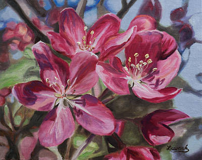 Painting - Crabapple Blossoms by Amy Lewark