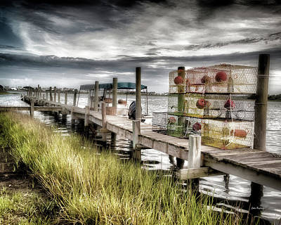 Photograph - Crabber's Dock, Surf City, North Carolina by John Pagliuca