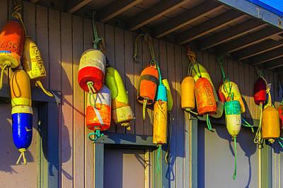 Photograph - Crabbing Buoys by Garry Gay