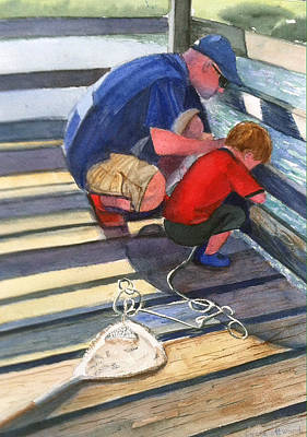 Painting - Crabbing by Lynne Atwood