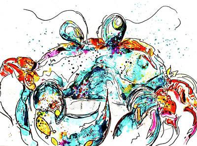 Crabbitude In Blue Art Print