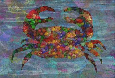 Fish Underwater Painting - Crabby 2 by Jack Zulli
