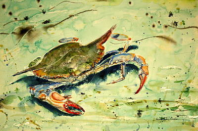 Crabby Appleton Art Print by Shirley Sykes Bracken