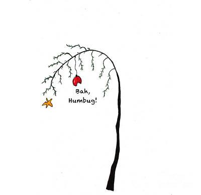 Painting - Crabby Bah Humbug Christmas Tree - Bah Humbug by Conni Schaftenaar