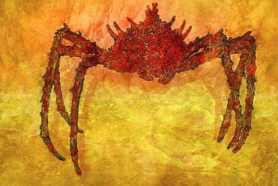 Found Art Mixed Media - Crabby by Jack Zulli