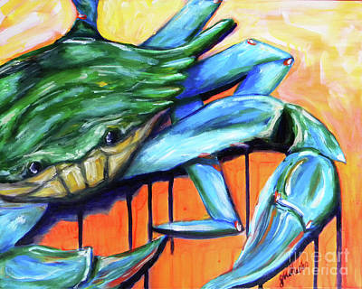 Painting - Crabby by JoAnn Wheeler