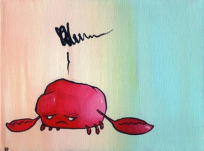 Painting - Crabby by Tim Boyd