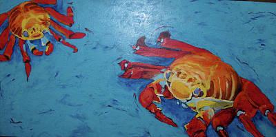 Painting - Crabs by Sarah LaRose Kane