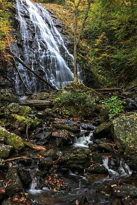 Autumn Photograph - Crabtree Falls In Autumn by Carol R Montoya