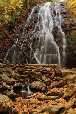 Photograph - Crabtree Falls In Autumn Color by Amanda Quinzi