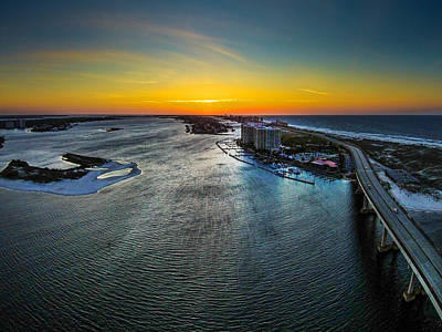 Photograph - Crack Of Dawn And The Wind Across The Water At Perdido Pass by Michael Thomas
