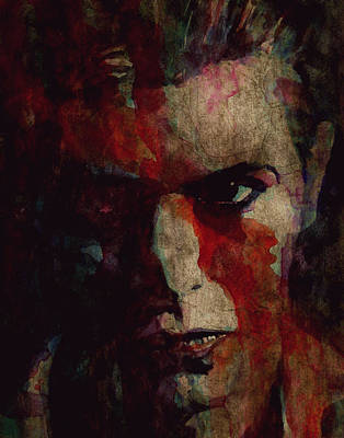 David Bowie Painting - Cracked Actor by Paul Lovering