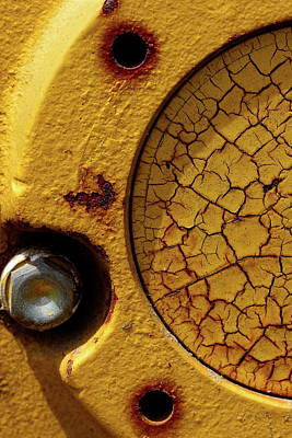 Photograph - Cracked And Yellow by Chuck De La Rosa