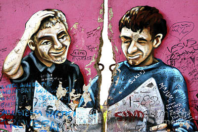 Photograph - Cracked Berlin Wall by John Rizzuto