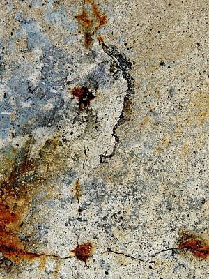 Photograph - Cracked Concrete And Rust Abstract 2 by Denise Clark