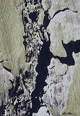 The Cracked And Crumbling Wall Art Print by Claudia O'Brien