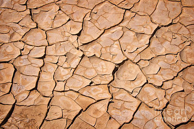 Drought Wall Art - Photograph - Cracked by Delphimages Photo Creations