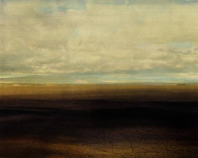 Nonrepresentational Digital Art - Cracked Desert by Lonnie Christopher