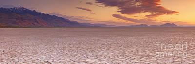 Alvord Desert Wall Art - Photograph - Cracked Earth In Remote Alvord Desert, Oregon, Usa At Sunrise by Sara Winter