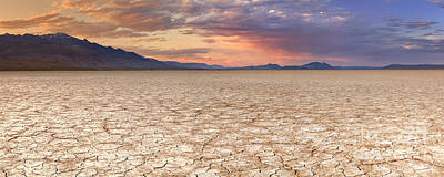 Alvord Desert Wall Art - Photograph - Cracked Earth In Remote Alvord Desert, Oregon, Usa At Sunset by Sara Winter