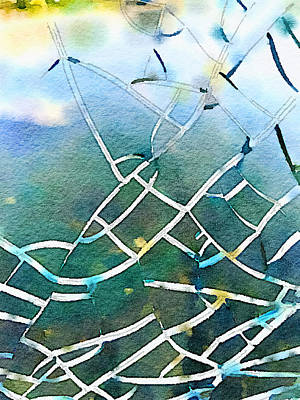 Photograph - Cracked Glass by Ronda Broatch