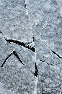 Photograph - Cracked Ice by Birgit Tyrrell