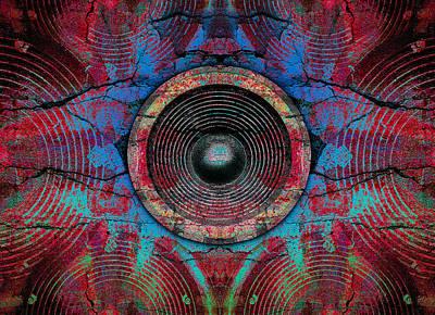 Digital Art - Cracked Music Speaker 3 by Steve Ball